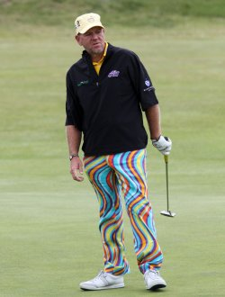 John Daly during practice day at the Open championship.