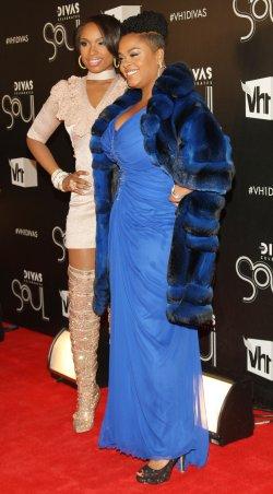 "Jill Scott and Jennifer Hudson arrive to the ""VH1 Divas Celebrates Soul"" concert in New York"