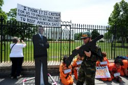 Guantanamo Protest in Front of the White House