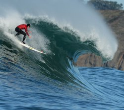 Mavericks Invitational big wave surf contest in Half Moon Bay, California