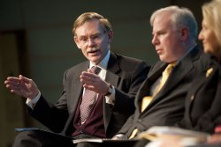Robert Zoellick speaks at a discussion on Spurring Global Economic Growth in Washington