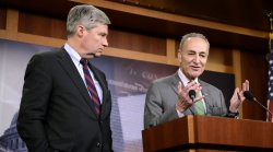 Senators Schumer and Whitehouse make remarks on Supreme Court campaign funding decision