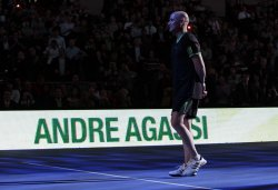 Tennis Legend Andre Agassi at the BNP Paribas Showdown in New York