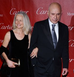Alan Arkin and wife his Suzanne Newlander Arkin arrive at the 24th annual Palm Springs International Film Festival in Palm Springs, California