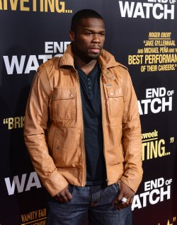 "Curtis James Jackson aka 50 Cent attends the ""End of Watch"" premiere in Los Angeles"