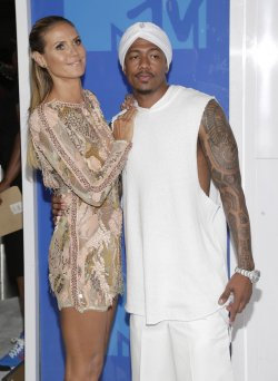 Heidi Klum and Nick Cannon arrive at the 2016 MTV Video Music Awards