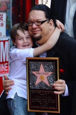 Penn & Teller receive a star on the Hollywood Walk of Fame in Los Angeles