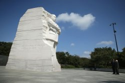 President Obama and Indian PM Modi visit the MLK Memorial in Washington, D.C.