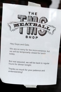 The Meatball Shop is closed due newly diagnosed Ebola paitent