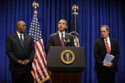 President Barack Obama Makes Stement on South Korean Trade