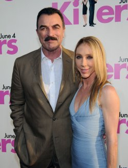 """Tom Selleck and Jillie Mack attend the """"Killers"""" premiere in Los Angeles"""