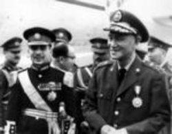 King Hussein of Jordan is welcomed by Taiwan's President Chiang Kai-Shek.