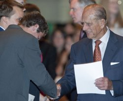 Prince Philip hands out Duke of Edinburgh awards in Toronto during the Royal Tour of Canada