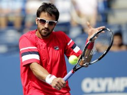 Janko Tipsarevic at the U.S. Open Tennis Championships in New York