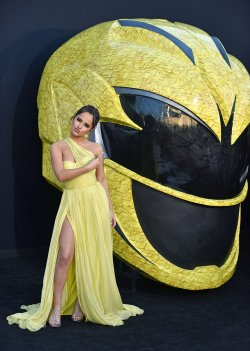 Becky G attends the 'Power Rangers' premiere in Los Angeles