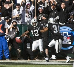 Raiders Jacoby Ford returns opening kickoff 99 yards against the Colts in Oakland, California