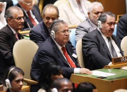 Iraqi President Jalal Talabani attends the General Assembly at United Nations