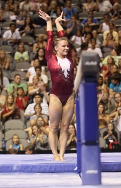 Bridget Sloan completes duirng the Visa Championship in Dallas
