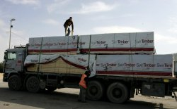 Israel allows construction materials into Gaza