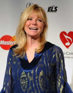 Cheryl Tiegs arrives at MusiCares Person of the Year tribute in Los Angeles