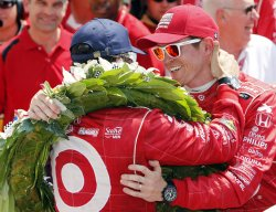 Dario Franchitti Celebrates His Third Indianapolis 500 Win