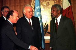 shevardnadze visits the united nations