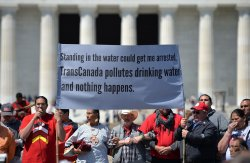 Keystone XL Pipeline Protest in Washington, D.C.
