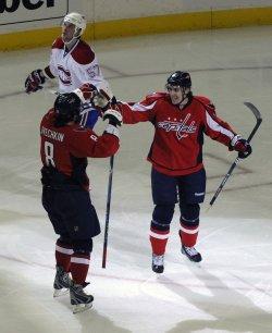 Capitals Fleischmann scores against the Canadiens in Washington