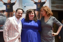 Melissa McCarthy places hand and footprints in cement in Hollywood