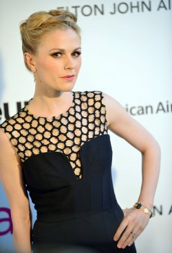 Anna Paquin attends the Elton John AIDS Foundation Oscar viewing party