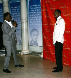 "Sean ""P. Diddy"" Combs unveils his wax figure at Madame Tussauds in New York"