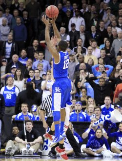 Kentucky Wildcats Brandon Knight at the NCAA Final Four East Regional at the Prudential Center in New Jersey