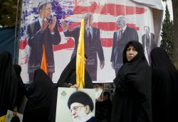 Iranians commemorate the November 4, 1979 takeover of the US embassy in Tehran