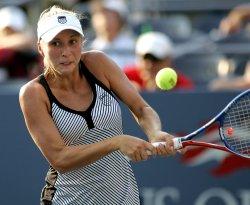 Melanie Oudin and Alona Bondarenko compete at the U.S. Open in New York