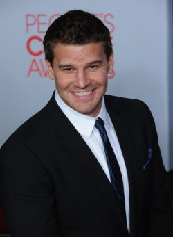 David Boreanaz attends the 38th annual People's Choice Awards in Los Angeles