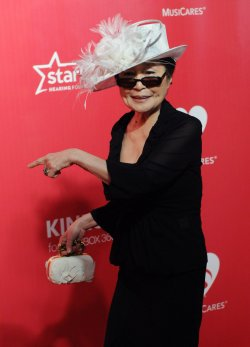 Yoko Ono attends the MusiCares Person of the Year gala in Los Angeles