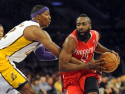 Los Angeles Lakers play Houston Rockets in Los Angeles