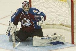 Canadiens Cammalleri Scores Against Avalanche Goalie Anderson in Denver