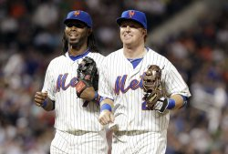 New York Mets Jose Reyes and Justin Turner at Citi Field in New York