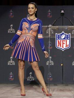Katy Perry Super Bowl XLIX half time press conference