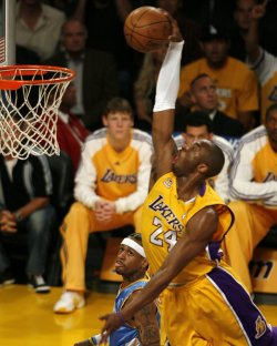 Los Angeles Lakers vs Denver Nuggets Game 2 in Western Conference first-round playoffs in Los Angeles