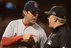St. Louis Cardinals vs San Francisco Giants in NLCS Game Two in San Francisco