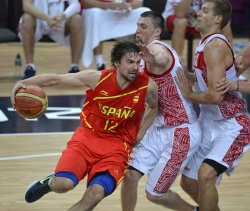 Spain-Russia men's basketball at 2012 Summer Olympics in London
