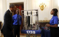 US President Barack Obama hosts the 2014 White House Science Fair