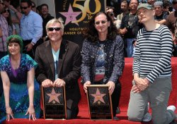 Rush receives star on Hollywood Walk of Fame in Los Angeles