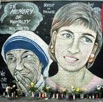 year old new york murals honoring the late lady Diana still in good shape