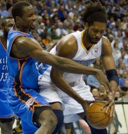 Western Conference Playoffs First Round Game Three in Denver