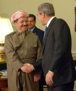 BUSH MEETS WITH KURDISTAN REGIONAL PRESIDENT