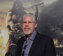 "Ron Perlman attends the premiere of ""Conan the Barbarian"" in Los Angeles"