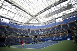 New retractable roof in Arthur Ashe Stadium